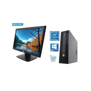 Hp Pc Complet 600 G2 SFF - 8Go RAM - 500Go HDD avec Écran 20