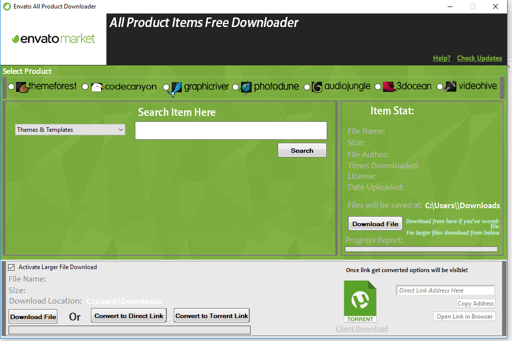 Envato All Product Items Downloader Free Download