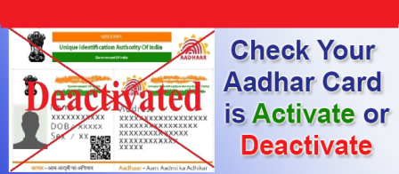 Your AADHAAR Card May Deactivated - Check Status Here Not utilising Adhaar Card? It might be get deactivated/2019/05/check-your-aadhaar-card-status-active-or-deactive-know-process.html