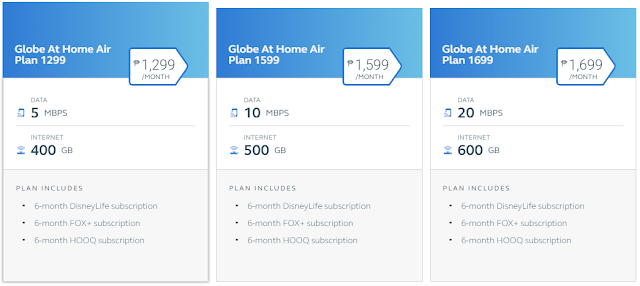 Globe Launched Home Air Postpaid Home WiFi