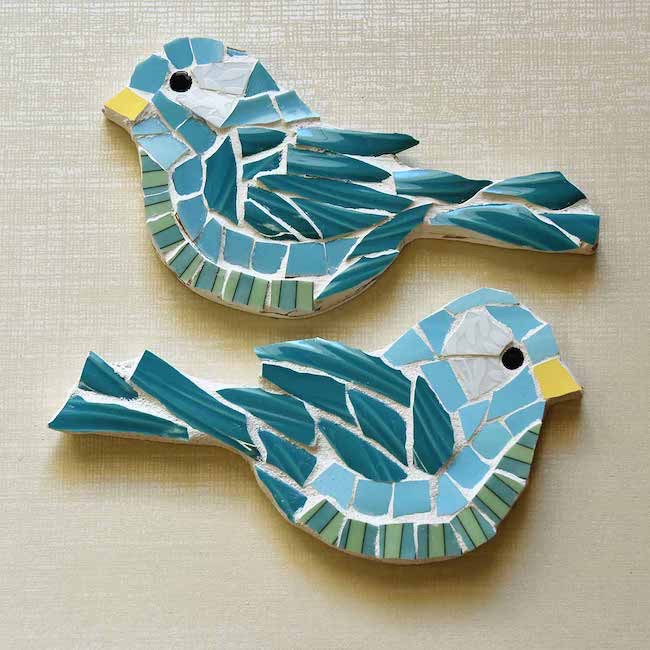 Picassiette Mosaic Birds by Selep Imaging featured at Pieced Pastimes