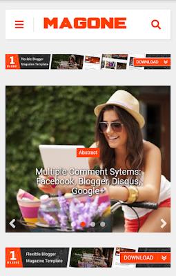 MagOne v6.8.1 News & Magazine ব্লগার টেমপ্লেট [Premium] [GPL] Screenshot