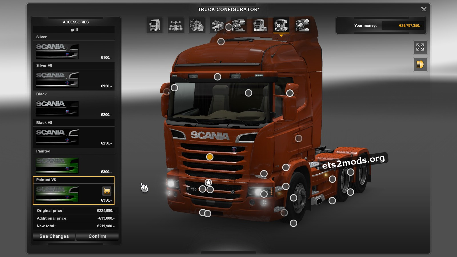 GTM Scania Reworks plastic parts