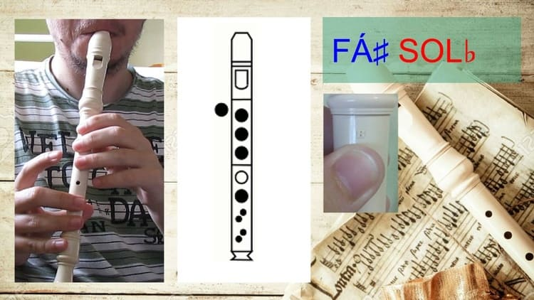 Fá# ou Solb - Flauta doce soprano germânica