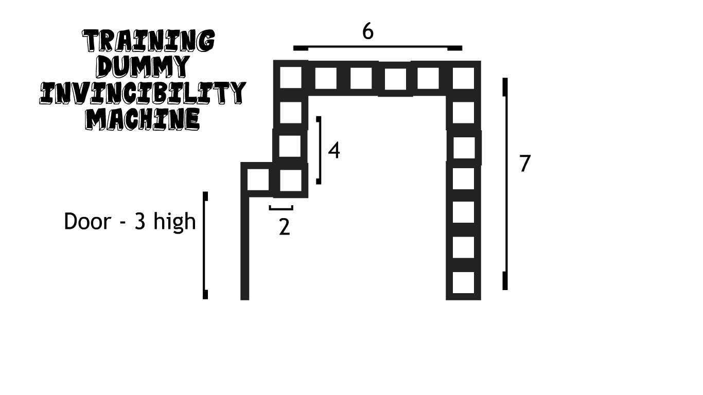Ike06 Gaming Terraria Invincibility Hack And More Wiring Guide 1 2 It Is 7 Blocks High 6 Wide Then On The Left Side You Make A Block That Sticks Out Little Bit With Door Place This Way