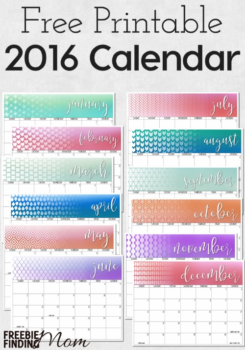 2016 free printable calendars crafting in the rain