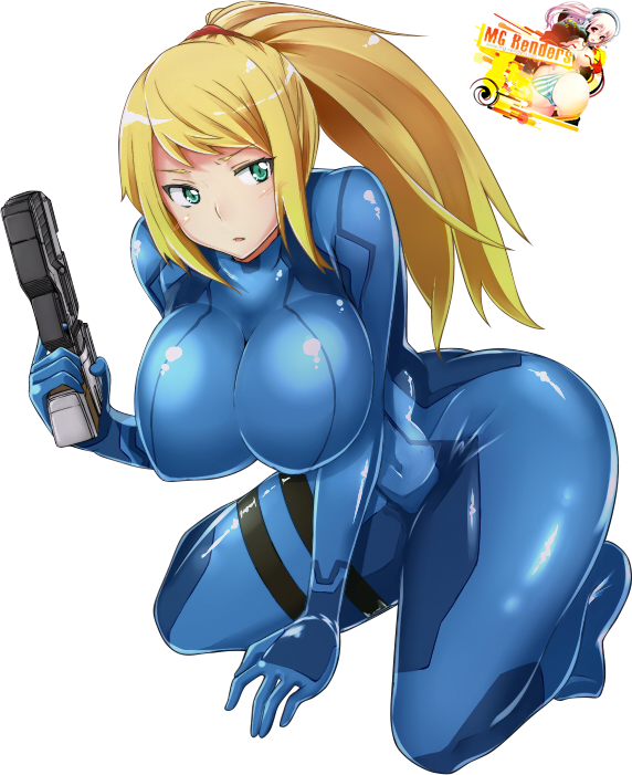 Tags: Anime, Render,  Bodysuit,  Huge Breasts,  Metroid,  Samus Aran, PNG, Image, Picture