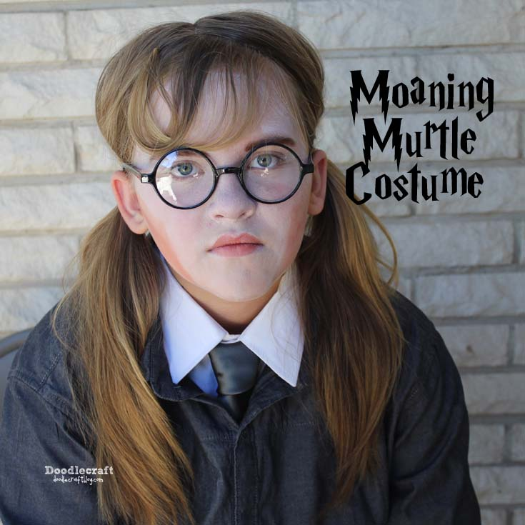 Handmade costume of Harry Potter's wizarding World Moaning Murtle cosplay last minute simple diy.