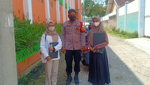Aipda kadar Rahmat, Polisi Baleendah Polresta Bandung Imbau Prokes 5M