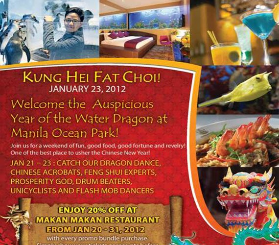Celebrates the Year of the Water Dragon with fun and excitement at Manila Ocean Park