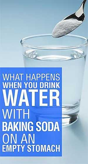 drink water with backing soda