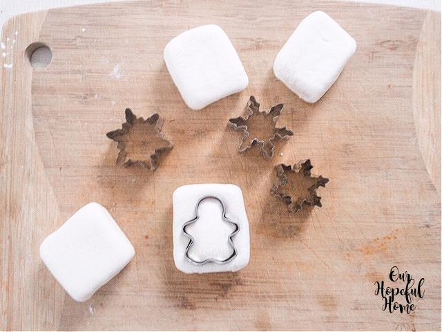 mini gingerbread Christmas cookie cutter square marshmallows