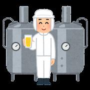 ビールの醸造所のイラスト