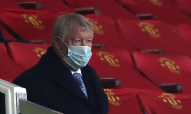 Sir Alex Ferguson at Old trafford watching his beloved club play