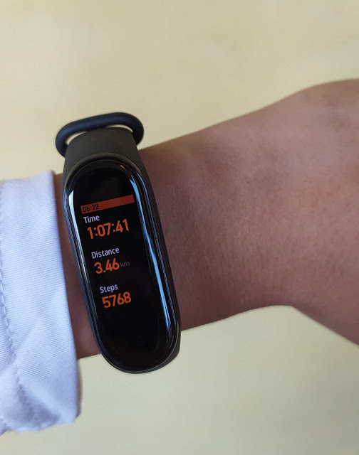 Workout with Mi Band 4