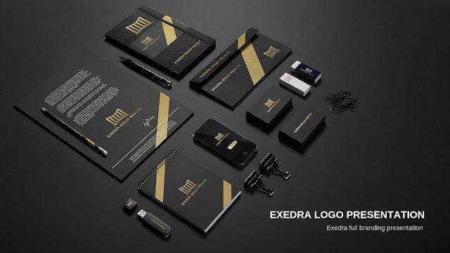 Exedra Logo Branding Presentation