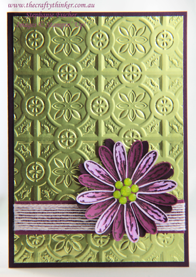 #thecraftythinker #stampinup #cardmaking #daisydelight #tintile #easycard , Daisy Delight, Tin tile, Stampin' Up Australia Demonstrator, Stephanie Fischer, Sydney NSW