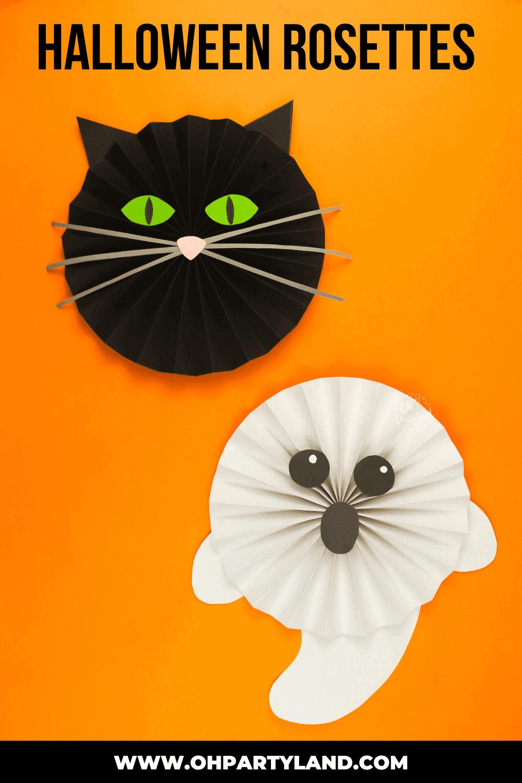 halloween paper rosettes