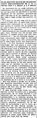 III Campeonato de Catalunya de Ajedrez por Equipos, Mundo Deportivo, 29 de mayo de 1932