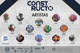 cartel de artistas en constructo 2017