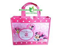 tas ulang tahun minnie mouse,tas souvenir ultah minnie mouse,tas ultah minnie mouse murah,goodie bag ultah minnie mouse,