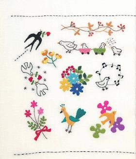 Nakış Örnekleri Kuşlar ve Çiçekler