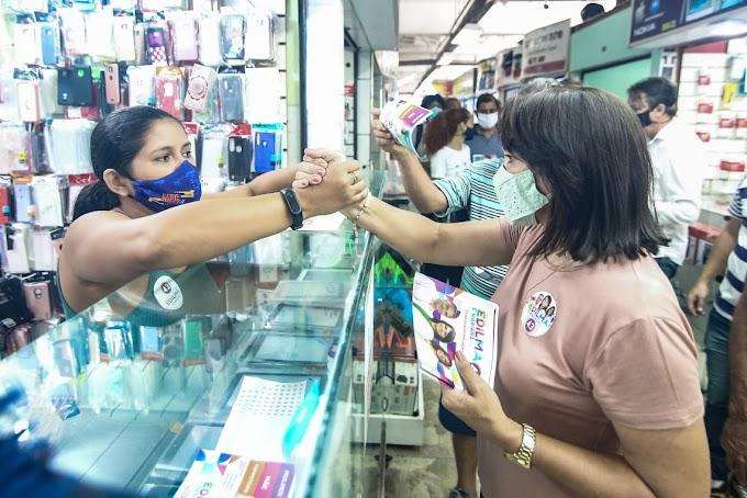 Edilma Freire visita comerciantes e garante que vai entregar mais um shopping popular no Centro
