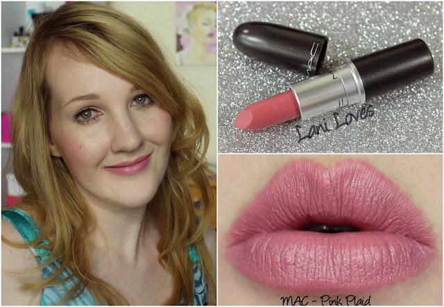 MAC Pink Plaid lipstick swatch