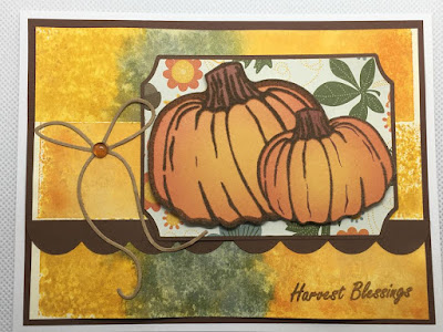 Ink Block Stamping Pumpkin card