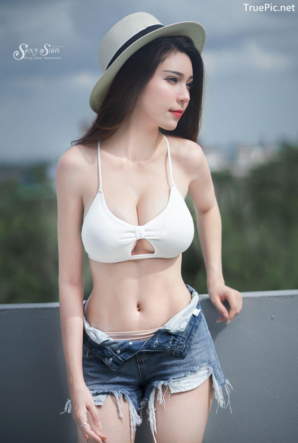 Image-Thailand Sexy Model-Janet-Kanokwan-Saesim-White-Bra-And-Jean-TruePic.net- Picture-2