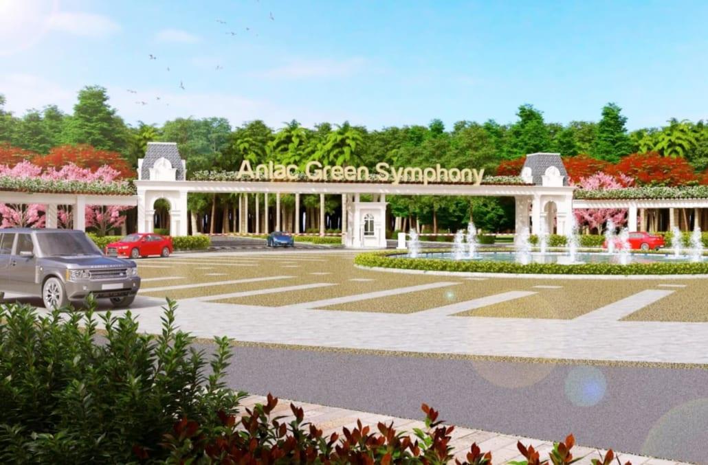 Phối cảnh cổng vào khu đô thị An Lạc Green Symphony