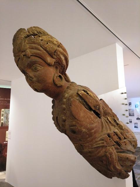 Mascarón de proa de barco en el Museo Carlos Machado de Ponta Delgada