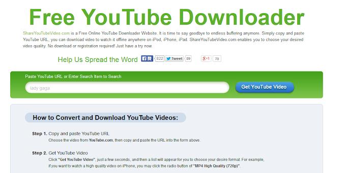 ShareYouTubeVideo - Κατεβάστε εντελώς δωρεάν βίντεο από το διαδίκτυο