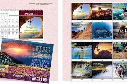 40 Contoh Desain Kalender Meja Modern dan Kreatif 2019 (PSD)