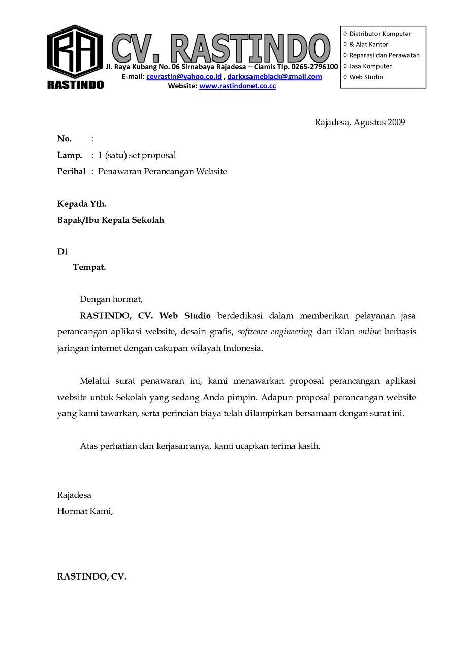 Contoh Surat dan Proposal Penawaran Jasa