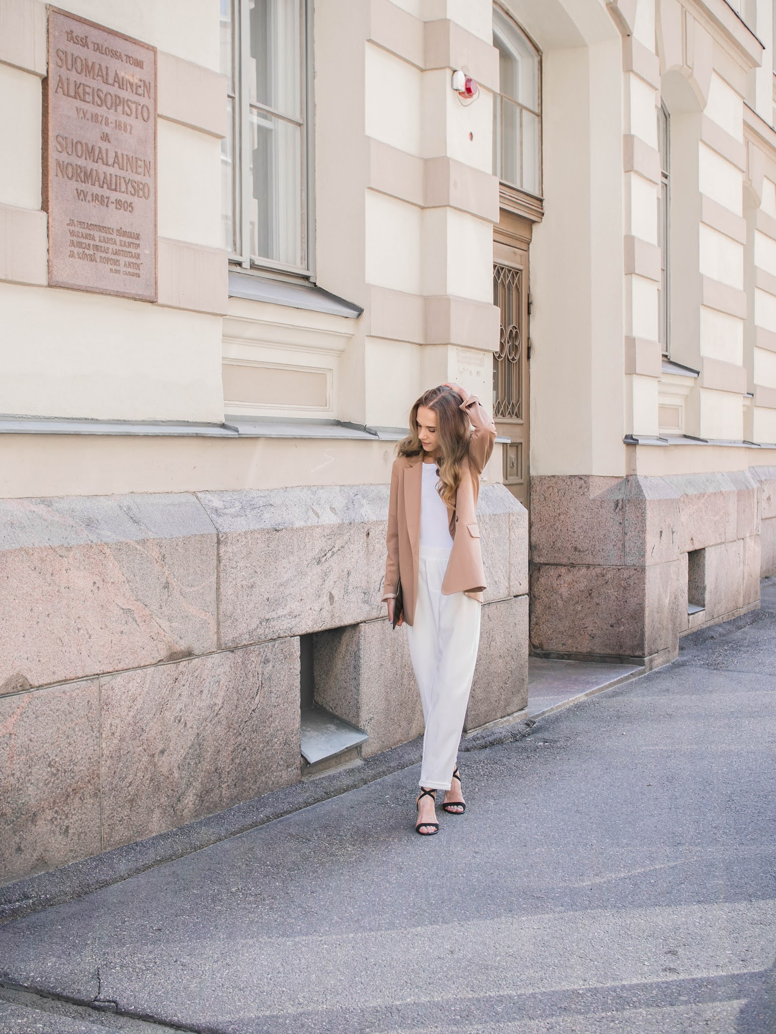 Fashion blogger style inspiration, smart suit outfit - Muotibloggaaja, inspiraatio, pukeutuminen, jakkupuku