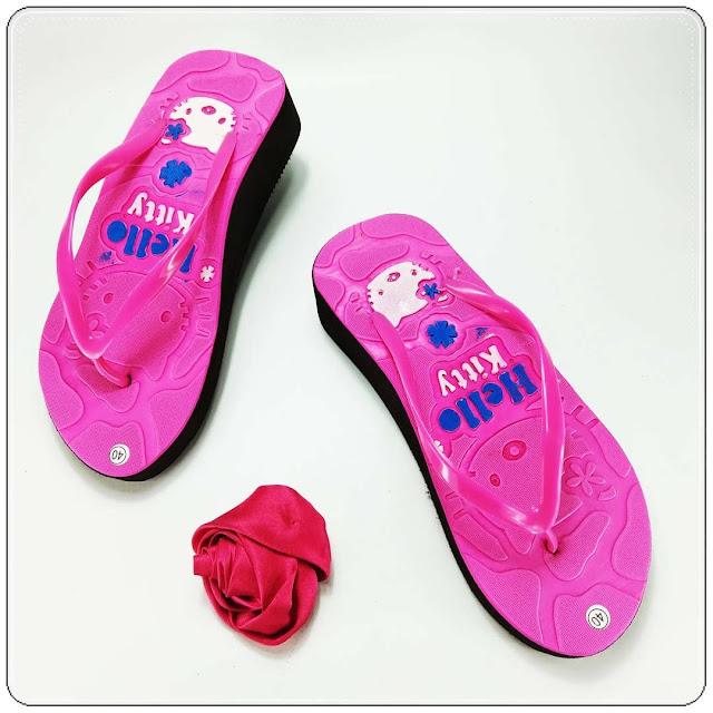 Wedges Sandal Wanita Casual- Sandal AB HK Tebal Wanita- Pabrik Sandal Spon