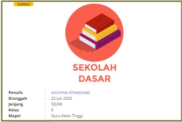 Download RPP Daring Bahasa Indonesia Kelas 6 SD