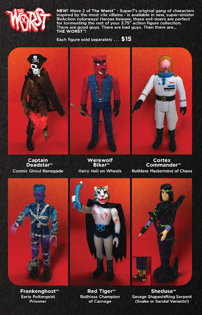 San Diego Comic-Con 2019 Exclusive Colorway of The Worst ReAction Series 2 Action Figures by Super7