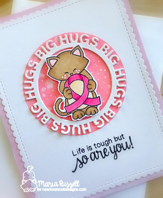 Life is Tough Card by Maria Russell  | Newton's Support Stamp Set by Newton's Nook Designs #newtonsnook #handmade