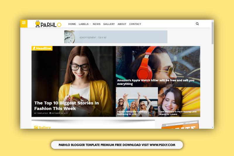Parhlo Premium Blogger Template Download