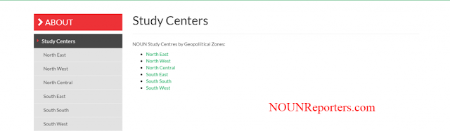 NOUN Study Centres by Geopoliitical Zones