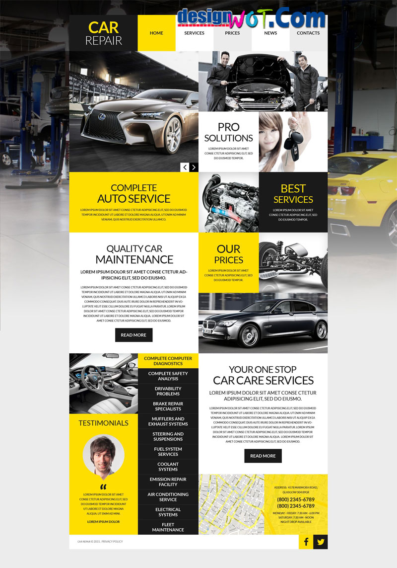 Car Repair Premium WordPress Themes