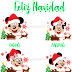 Mickey Mouse Familia Navidad, vector png clipart