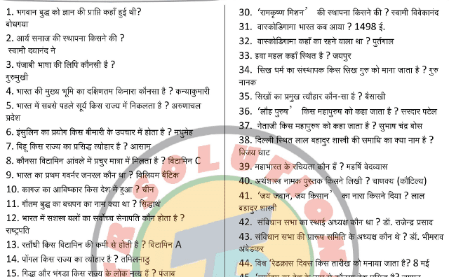 1000 General Knowledge One Liner Question and Answers PDF Download