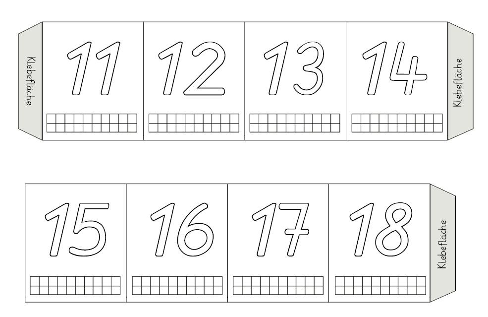 Grundschultante: Erweiterung Leporello Zahlen