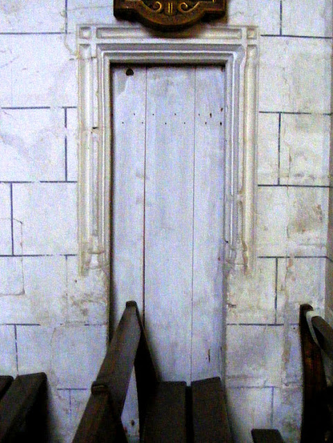 Door to belfry, Concremiers, Indre, France. Photo by Loire Valley Time Travel.
