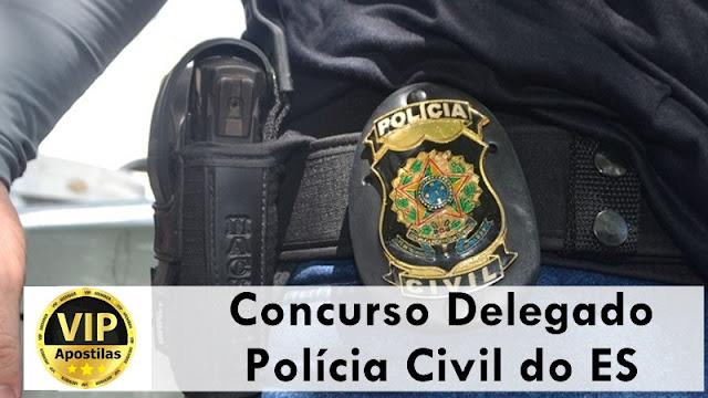 Concurso delegado Polícia Civil (ES) abre inscrições para 33 vagas