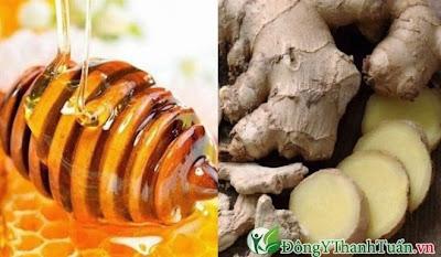 Chữa bệnh viêm họng bằng gừng và mật ong