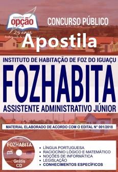 Apostila Fozhabita Assistente Administrativo Júnior 2018